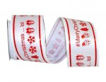 "2 1/2"" Merry Christmas Icons Ribbon Wire Edge"