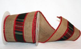 "4"" Dupioni Burlap Plaid - WE (#90920-S)"
