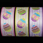 "2 1/2"" Easter Eggs Ribbon Wire Edge"