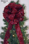 Enchanting Swirl Christmas Bow (#1555)