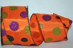 "2 1/2"" Halloween Dot 2 Ribbon - WE (#90565W)"