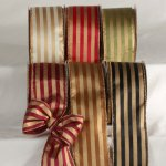 "2 1/2"" Gold Stripe Ribbon - WE (#35142-156)"