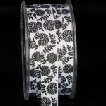 "5/8"" Inga's Black & White Flakes Grosgrain (#42105-166)"