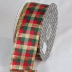 Metallic Tartan Ribbon - WE (34112-156)