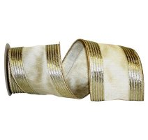 Platinum Silk Metallic Ribbon - Wire Edge