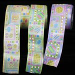 "2 1/2"" Easter Eggs Ribbon - WE (#156-254 )"