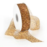 Morex Sheer Leopard Ribbon - Unwired