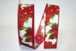 Poinsettia Ping Ribbon - Wired (90672W)