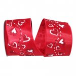 Heart Trail Glitter Ribbon Wire Edge