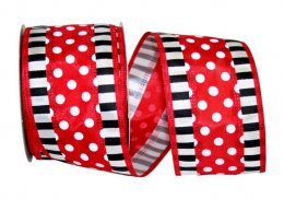 "2 1/2"" Dots Striped Ticking - WE (#93058W)"