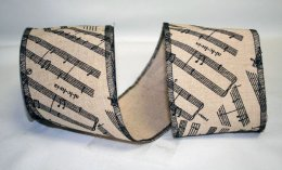 "4"" Musical Note Linen- WE (#92346W)"