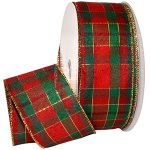 Townson Tartan Plaid Ribbon - Wire Edge
