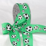 "1 1/2"" Soccer Ribbon - Wire Edge"