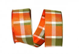 "1 1/2"" Woven Windy Plaid Ribbon - Wire Edge"