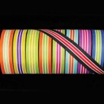 "1 1/2"" Copenhagen Stripe Ribbon - Wired"