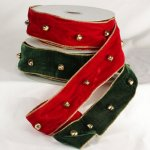 "2 1/2"" Velvet Eastern Bells Ribbon - WE (10712-141)"
