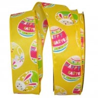 "1 1/2"" Easter Egg Fun Ribbon - Wire Edge"