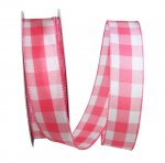 "1 1/2"" Celine Plaid Twill Ribbon - Wire Edge"