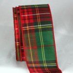 2 12 redgreen tartan chic ribbon wire edge
