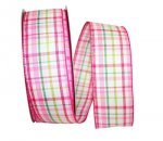 "2 1/2"" Rachel Plaid Ribbon - Wire Edge"