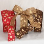 "1 1/2"" Natural Valentine Ribbon - Wired Edge (32091-156)"