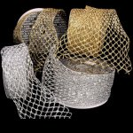 Fuzzy Stretchable Mesh Ribbon - Wire Edge
