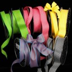 Woven Chevron Ribbon - Wire Edge