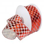 Checkerboard Foil Ribbon - Wire Edge