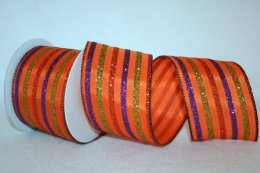 Striped Season Ribbon - Wired (#90569W)