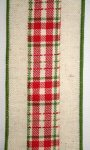 "2 1/2"" Burlap Plaid Center - WE (#92176W)"