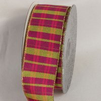 Metallic Fuchsia Tartan Plaid - WE (34132-156)