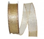 "1 1/2"" Metallic Net 2 Ribbon - Wired Edge (#92633W)"