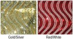 "4"" Sequin Swirls Ribbon - Wire Edge"