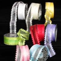 Sheer Rose Edge Ribbon - Wire Edge (#277-156-S)