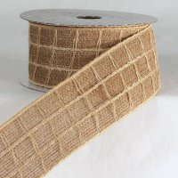 "2 1/4"" Natural Combo Ribbon - Wire Edge"