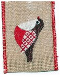 "2 1/2"" Burlap Bird - WE (#90773 )"