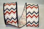 "2 1/2"" Patriotic Chevron Hopsack Ribbon - WE (#92211W)"