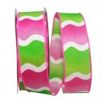 "1 1/2"" Bright Wave Ribbon - Wire Edge"