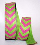 "1 1/2"" Jute Chevron Ribbon"