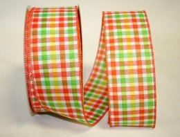 Everyday Plaid Ribbon - Wire Edge