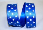 "1 1/2"" Satin Stars Gleam Ribbon - Wire Edge"