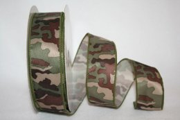 Camouflage 3 Ribbon - Wire Edge