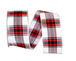 "1 1/2"" Woven Lauren Plaid - Wired Edge"