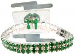 Sophisticated Lady Corsage Bracelet - Green (#SL1004)