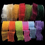 "2 1/2"" Woven Netting Ribbon - WE (#111-156)"