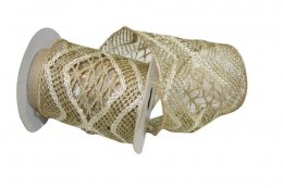 "4"" Lace Luxe Metallic Ribbon - Wire Edge"