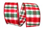 "2 1/2"" Flannel Plaid Fresh Ribbon - WE (#92793W)"