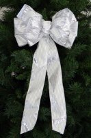 Hand-Tied Gleam Christmas Bow - Wire Edge
