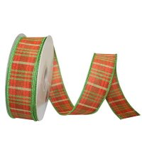 Plaid Andover Ribbon - Wire Edge