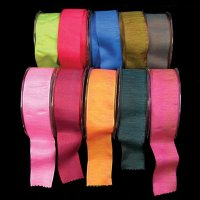 "1 1/2"" Shiny Taffeta Ribbon - Wire Edge"